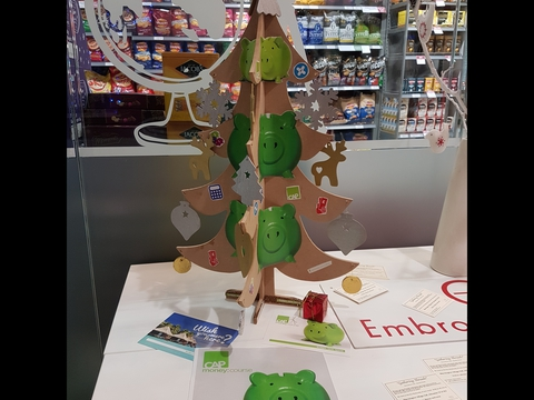 Christians Against Povery at Waitrose Christmas Tree Festival